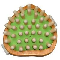 Esdoornhouten massageborstel bij o.a. cellulitis