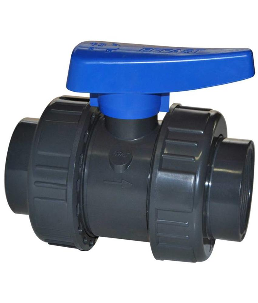 EFFAST PVC kogelkraan 2x wartel