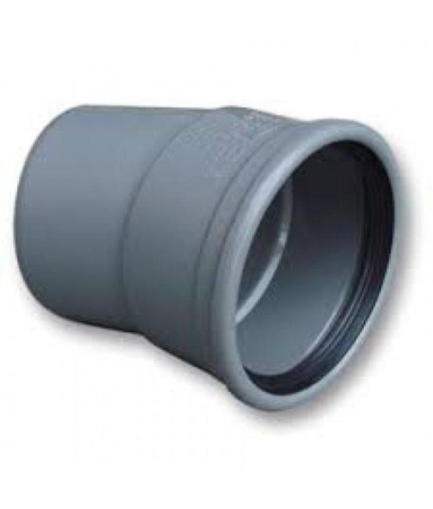 PVC Bocht 15gr 125mm, SN4 mof/spie