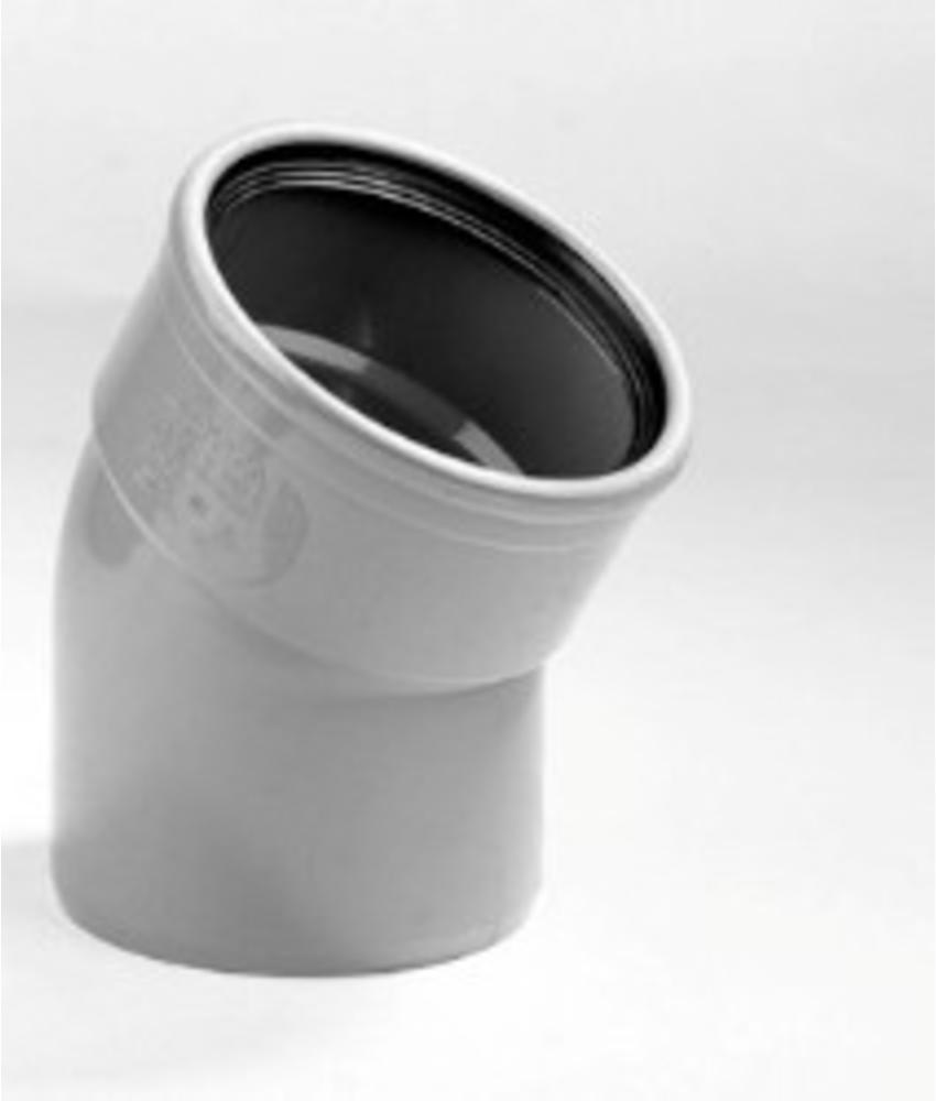 PVC Bocht 30gr, Ø 110mm SN4 mof/spie