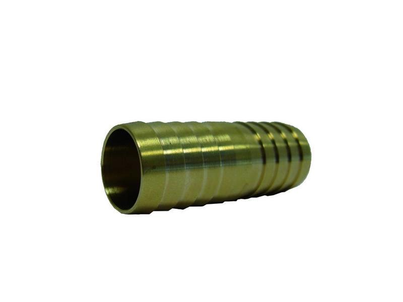 1/2'' (bui.dr) x 13mm messing slangkoppeling 2 x slangtule
