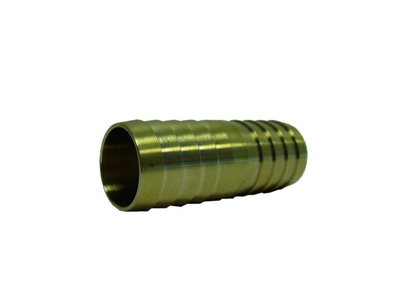 1'' (bui.dr) x 25mm messing slangkoppeling 2 x slangtule