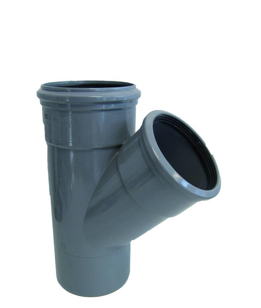 PVC T-stuk 45gr, 250mm SN4 (2x mof/spie)