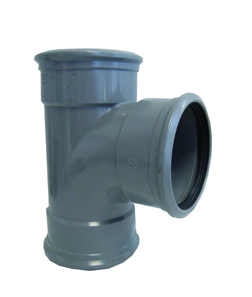 PVC verloop t-stuk 88gr, 110x75mm