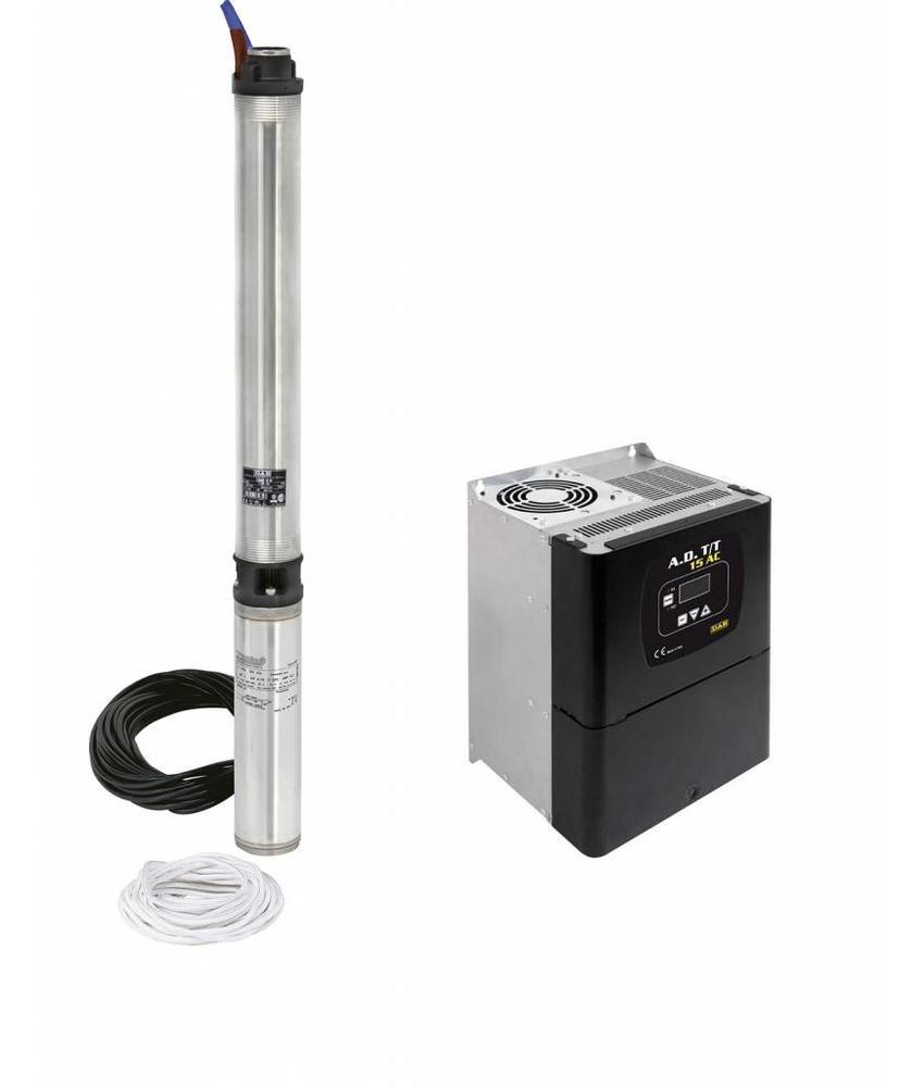 DAB S4C 9T KIT 400 volt bronpomp set + DAB ADAC frequentieregelaar T/T 3,0 AC