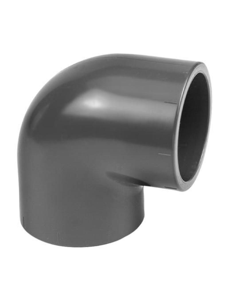 VDL PVC verloopknie 50x32 PN10 90 graden