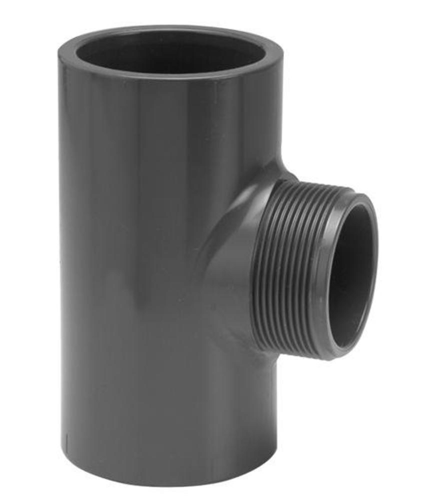 VDL PVC T-Stuk Ø 50 x 1 1/2'' PN16, 90 graden
