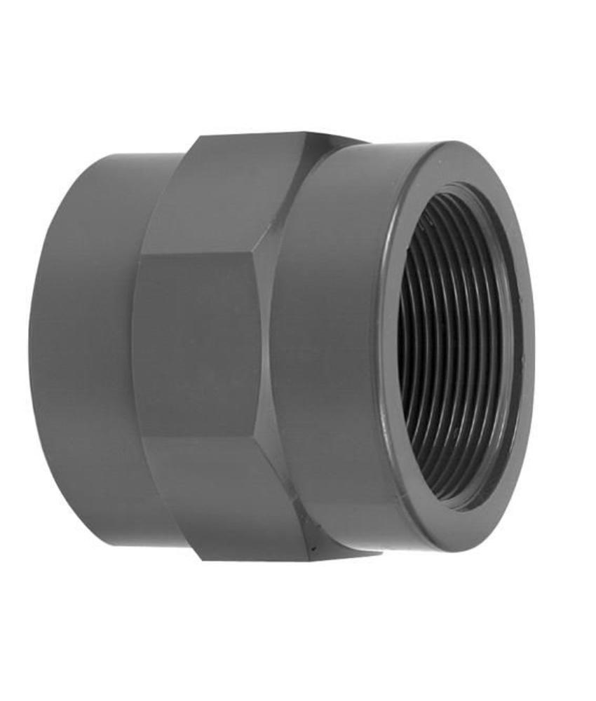 VDL PVC draadsok 25 mm x 1/2'' PN16