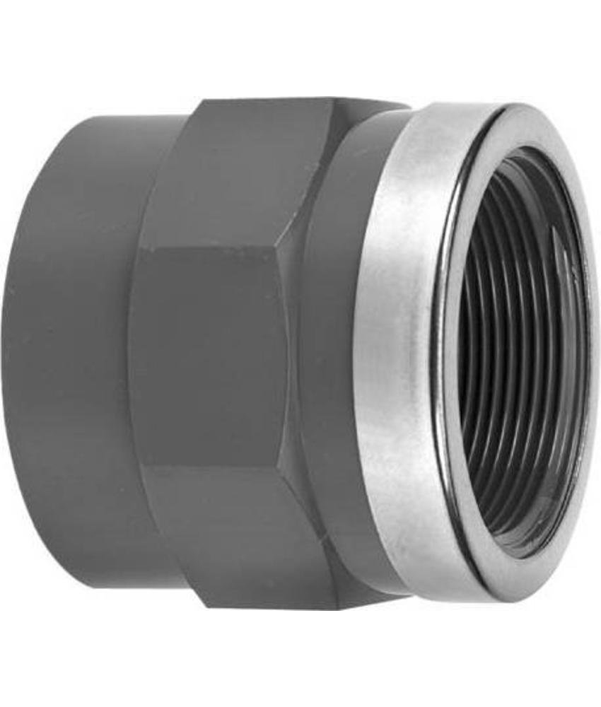 VDL PVC draadsok 50 mm x 1 1/2'' PN16 + ring