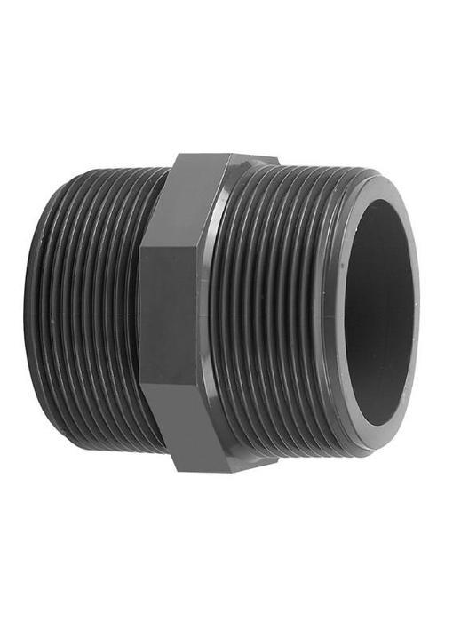 VDL PVC draadnippel 1 1/4'' x 1'' PN16