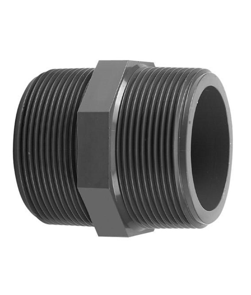 VDL PVC draadnippel 2 1/2'' x 2 1/2'' PN16