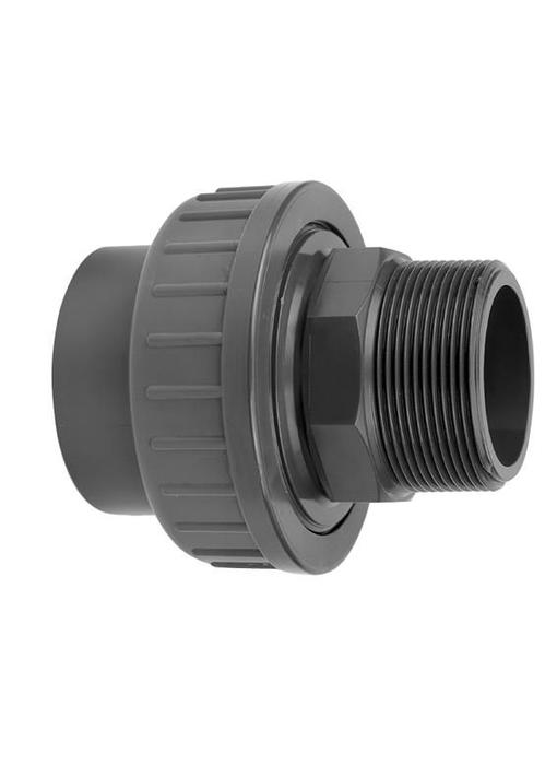 VDL PVC koppeling 40 x 1  1/4'' koppeling lijm- en buitendraadverbinding