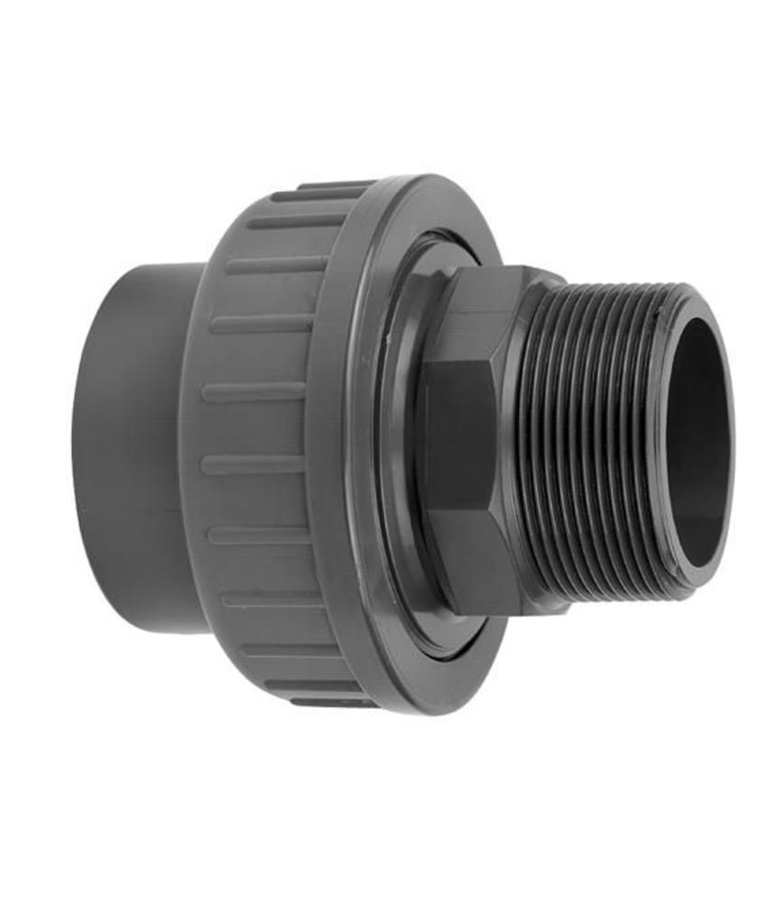 VDL PVC koppeling 75 x 2 1/2'' koppeling lijm- en buitendraadverbinding