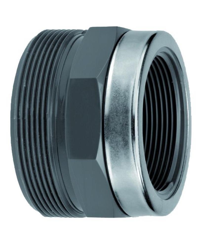 VDL PVC 90 x 3'' draadeind diameter x binnendraad + ring