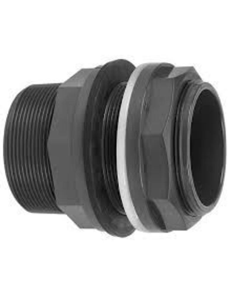 VDL PVC 63 mm x 2 1/2'' x 2 1/2'' tankdoorvoerkoppeling