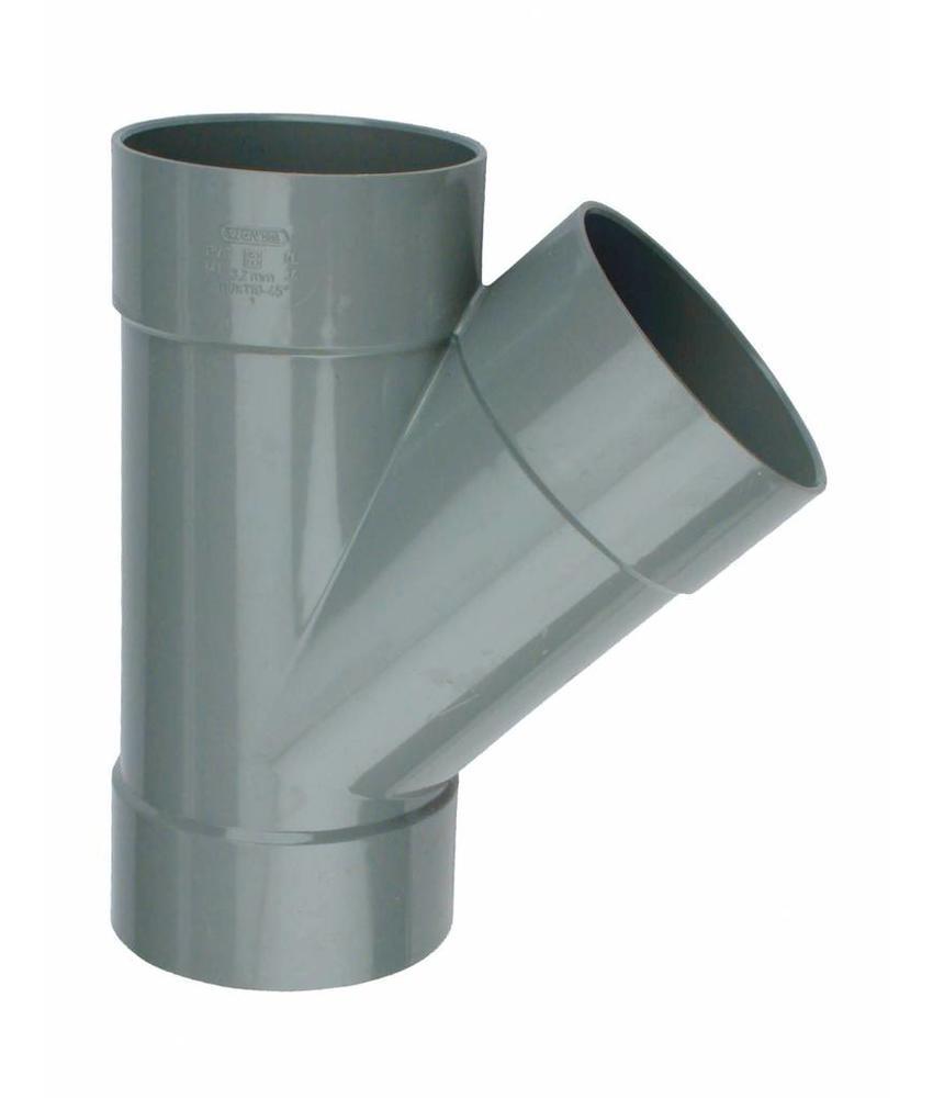 PVC T-stuk 88 graden SN4 160 x 125 mof/mof