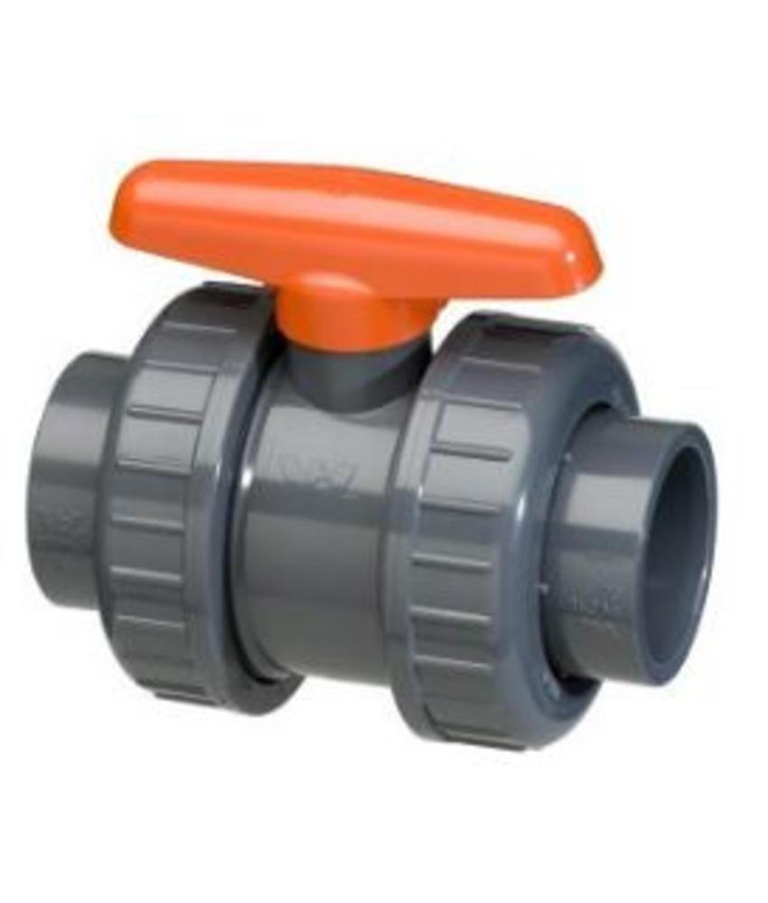 VDL PVC kogelkraan 63 mm dubbele wartel