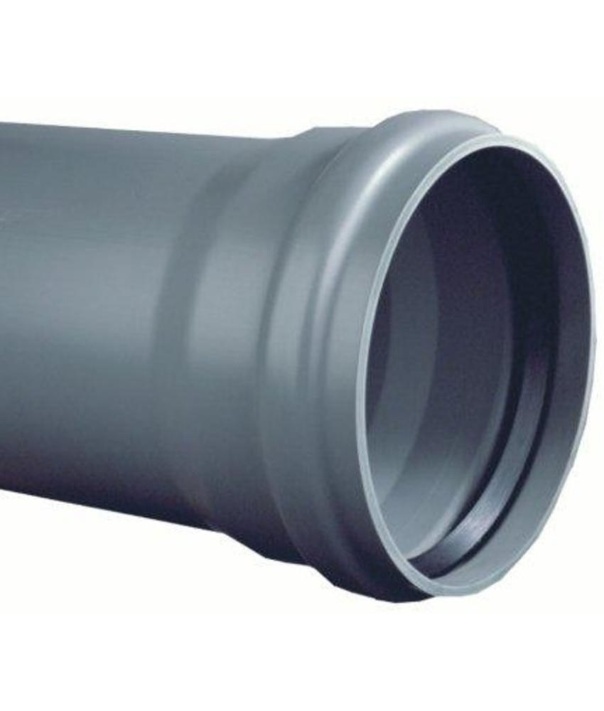 PVC afvoerbuis Ø 125mm SN8 met manchetmof