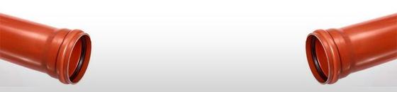 PVC afvoerbuis SN4 bruin met manchetmof
