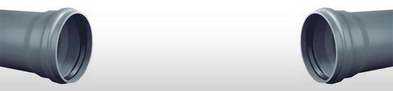 PVC afvoerbuis SN8 met manchetmof grijs