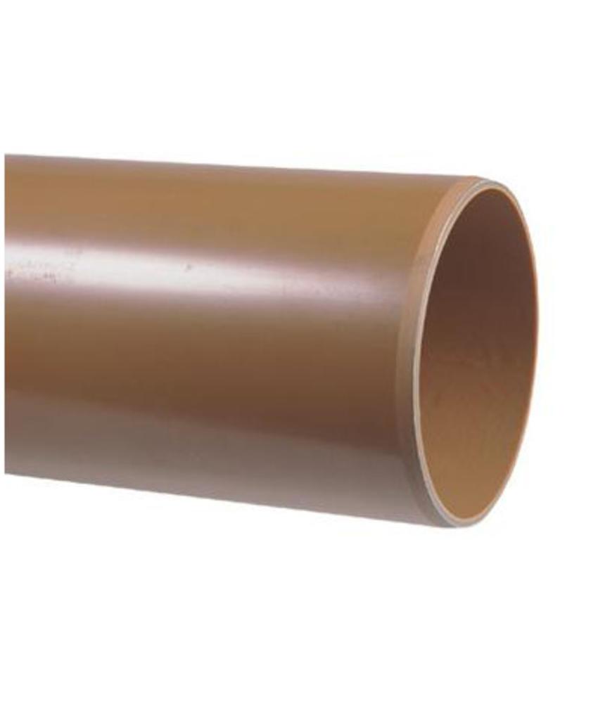 PVC afvoerbuis Ø 125mm SN8 bruin