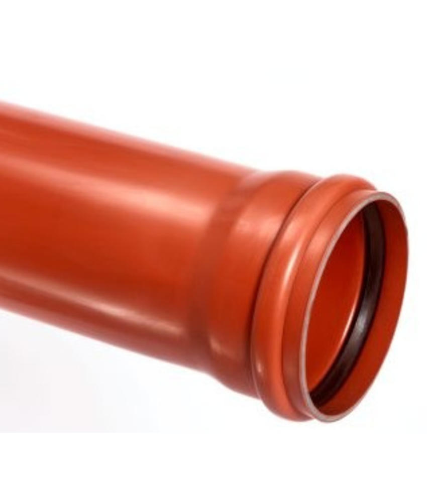 PVC afvoerbuis Ø 250mm SN8 bruin met manchetmof