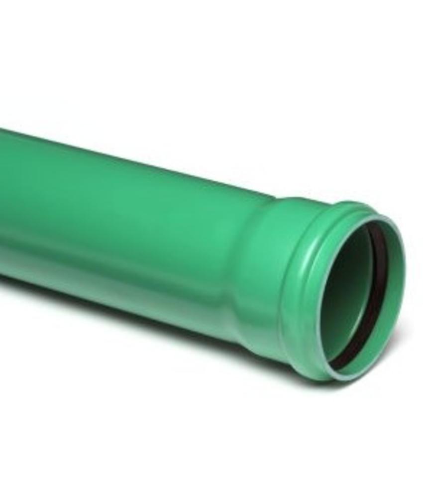 PVC afvoerbuis Ø 200mm SN8 groen met manchetmof