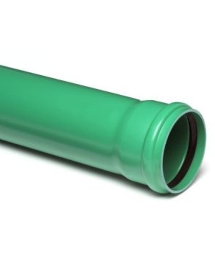 PVC afvoerbuis Ø 250mm SN8 groen met manchetmof