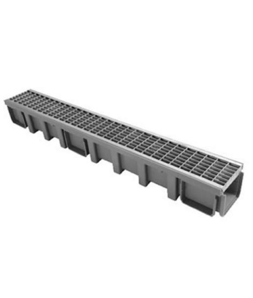 Nicoll Connecto 100 lijngoot met gegalvaniseerd maasrooster 100 x 11,5 cm