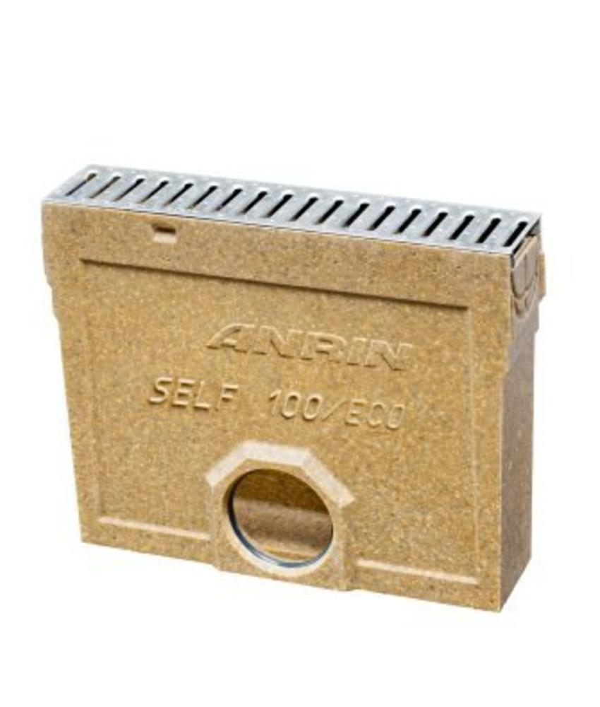 Anrin slibput voor lijngoot inclusief RVS sleufrooster en emmer