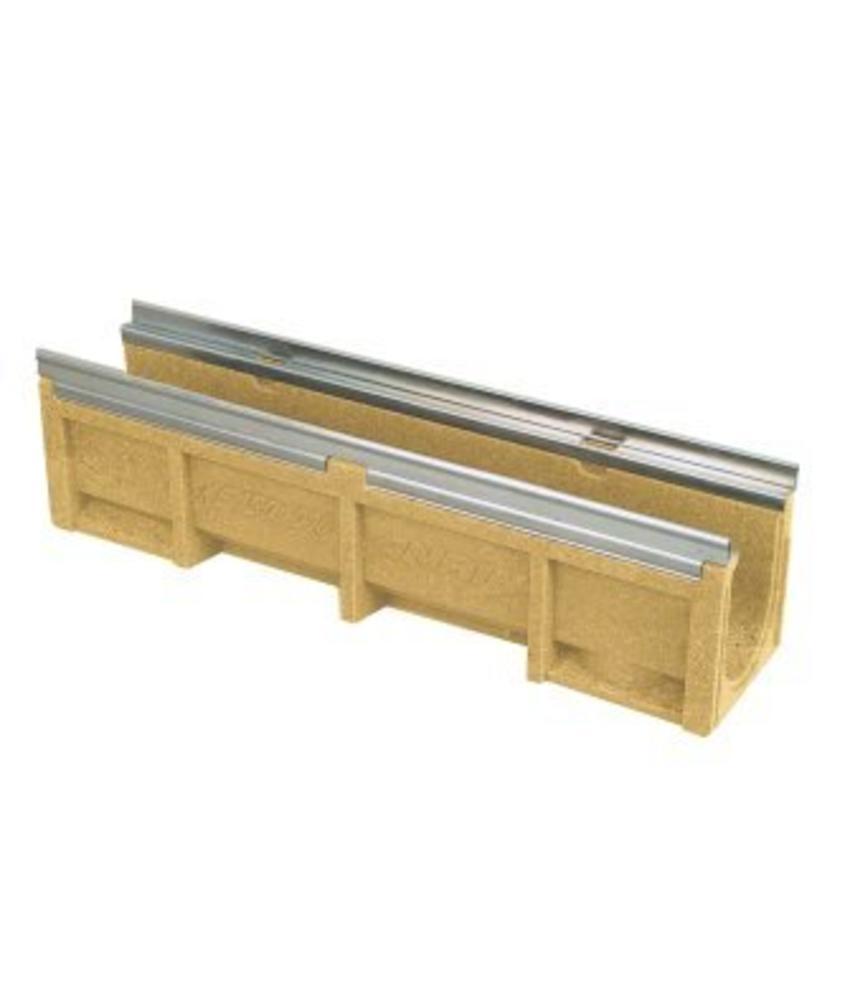 Anrin lijngoot KE-150 polyesterbeton zonder rooster 100 x 22 cm