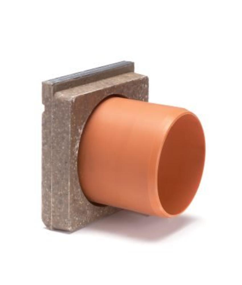 Anrin polyesterbeton eindstuk incl. uitloop voor KE-150 lijngoot
