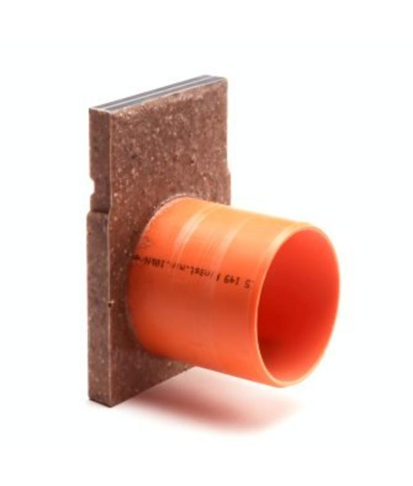 Anrin polyesterbeton eindstuk incl. uitloop voor KE-100 lijngoot  H=15 cm