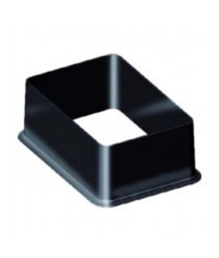 Vierkante kleppendoos verhoging 16,5 cm - Standaard