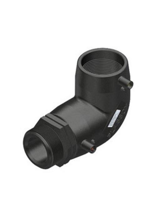 "Plasson Elektrolas overgangsknie 40 mm x 1½"" - 90° voor water bu.dr."