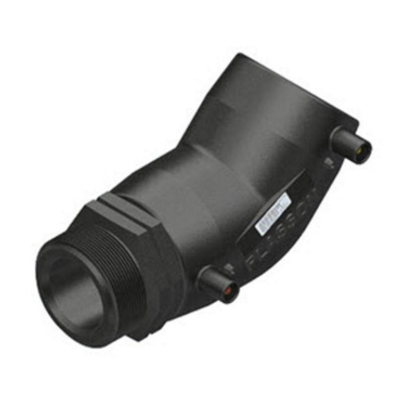 "Plasson Elektrolas overgangsknie 32 mm x 1"" - 45° voor water bu.dr."