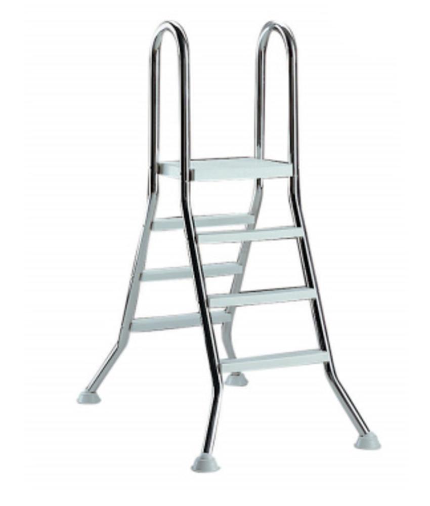 AstralPool Ladder RVS 5 x 5 + platform - bovengronds zwembad