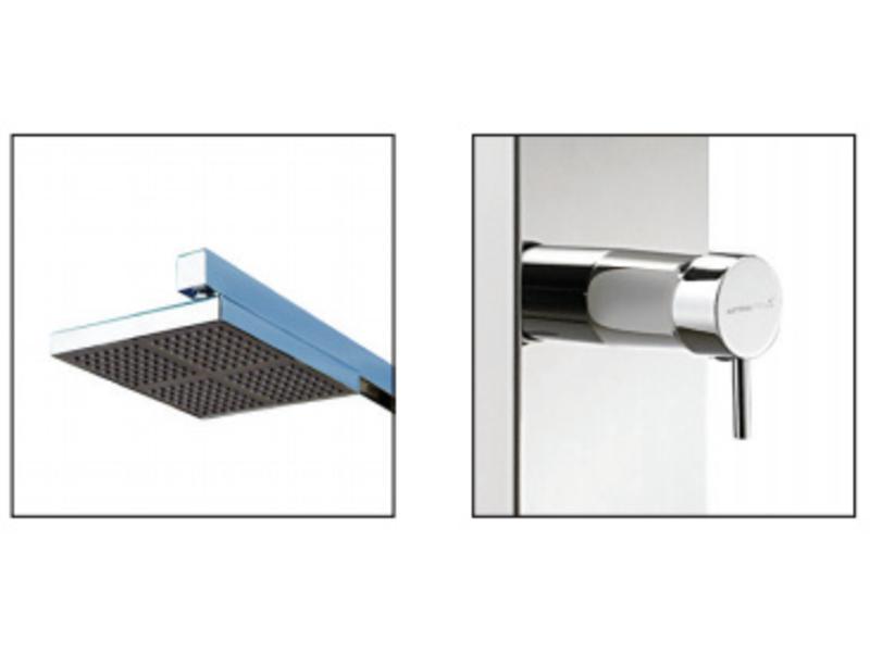 AstralPool Niagara solar buitendouche gepolijst RVS - warm/koud water