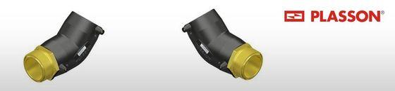 Plasson elektrolas overgangsknie 45° messing bu.dr.