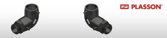 Plasson elektrolas overgangsknie 90° voor water bu.dr.