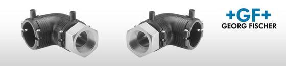 GF ELGEF elektrolas overgangsknie 90° PE / staal bi.dr.