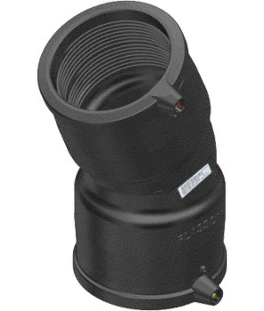 Plasson Elektrolas knie 90 mm 22,5°