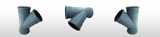 PVC verloop T-stuk 45gr SN4, 3 x mof