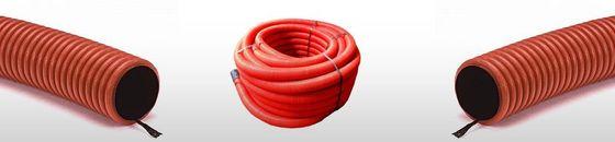 Kabelbeschermingsbuis rood | Rechte lengtes