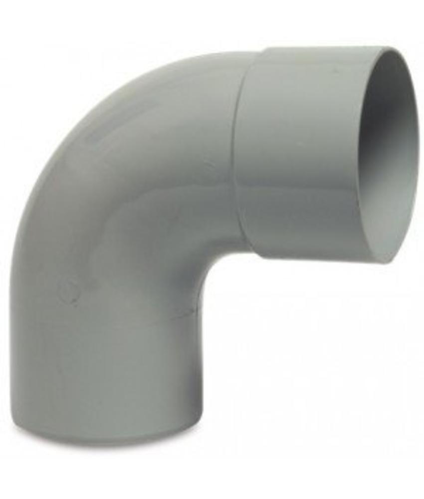 PVC HWA bocht mof / spie 87,5° - 80 mm