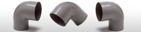 PVC HWA bocht mof / spie 87,5 graden verjongd spie-eind