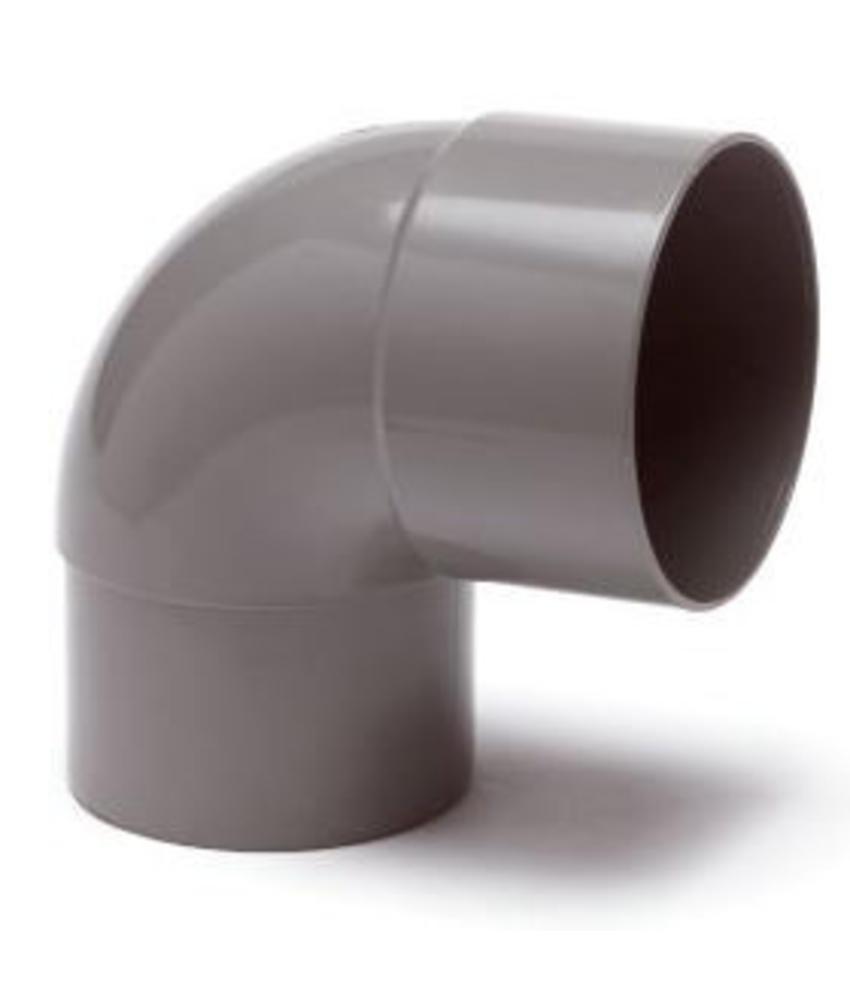 PVC HWA bocht mof / spie 87,5° - 70 mm verjongd spie