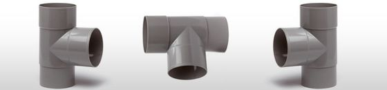 PVC HWA T-stuk 2x mof 90 graden verjongd spie-eind