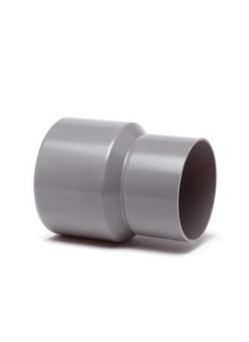 PVC HWA verloopstuk inwendig x uitwendig spie - 100 x 110 mm