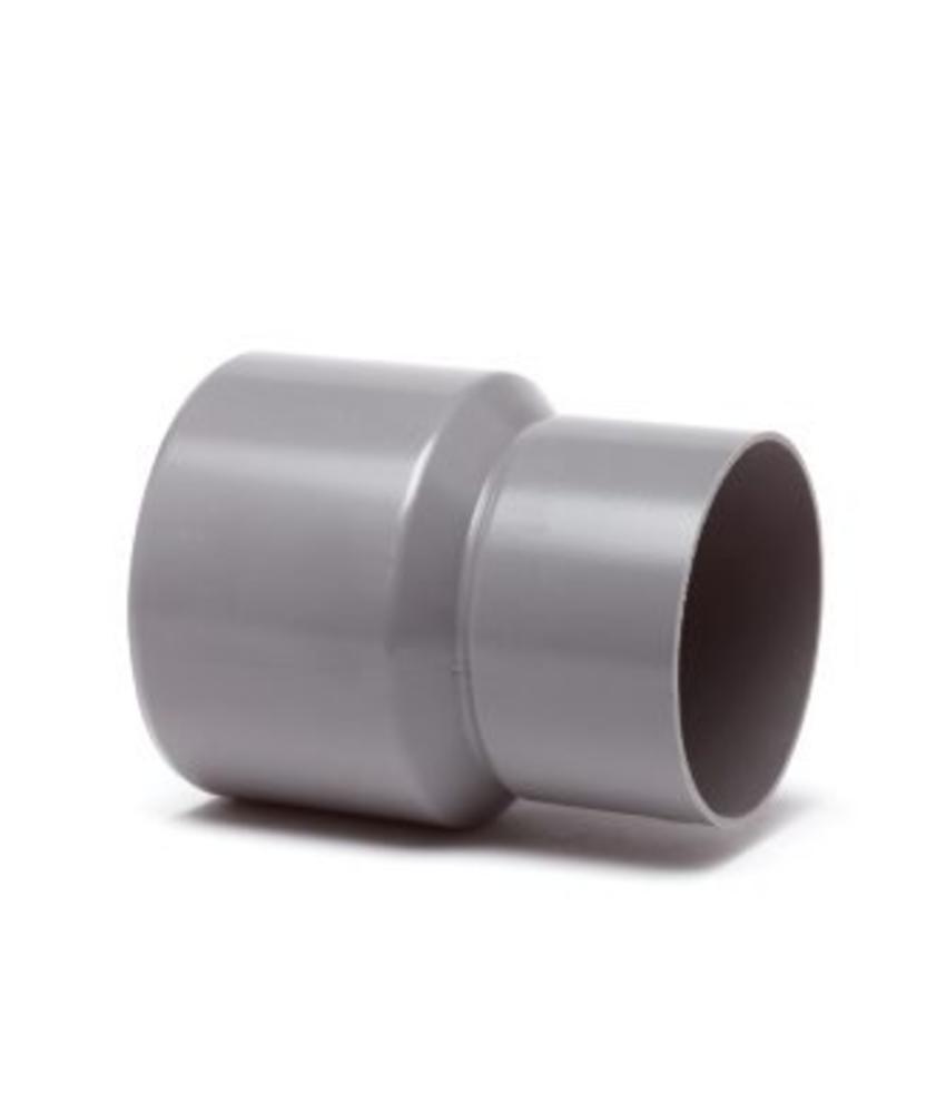 PVC HWA verloopstuk mof / spie - 125 x 80 mm